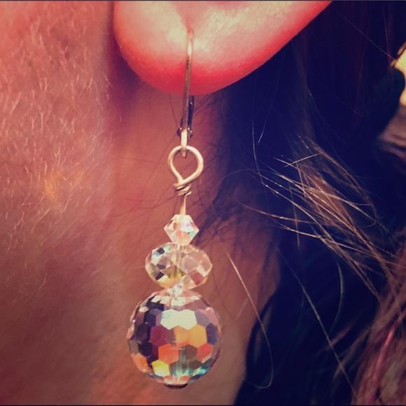 38c9cfcee Sparkly AB Swarovski Disco Ball Earrings. M_5c7461629539f79435926937